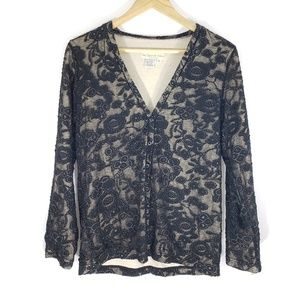 The Territory Ahead   M   Button Floral Cardigan